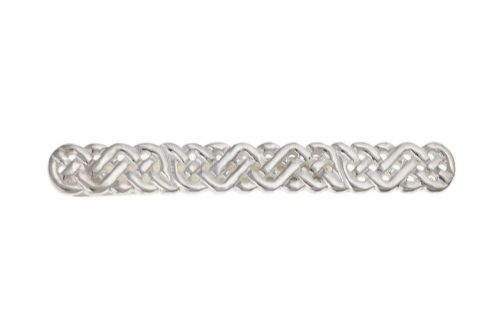 Solid Silver Tie Slide Clip Celtic Design Mens Gents Gift 925 hallmarked